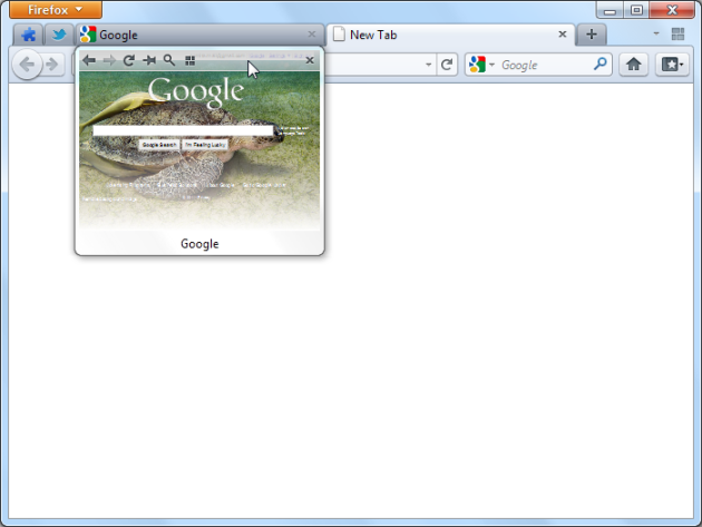 Tab Scope Tab Preview Pada Firefox
