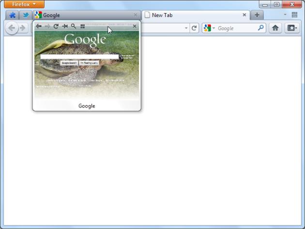 Tab Scope Tab Preview Pada Firefox
