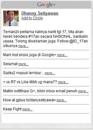 Memasang Profil Google+