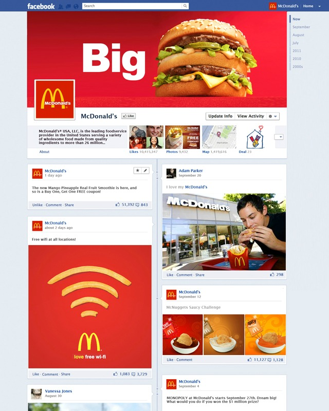 Contoh Desain Kreatif Facebook Timeline
