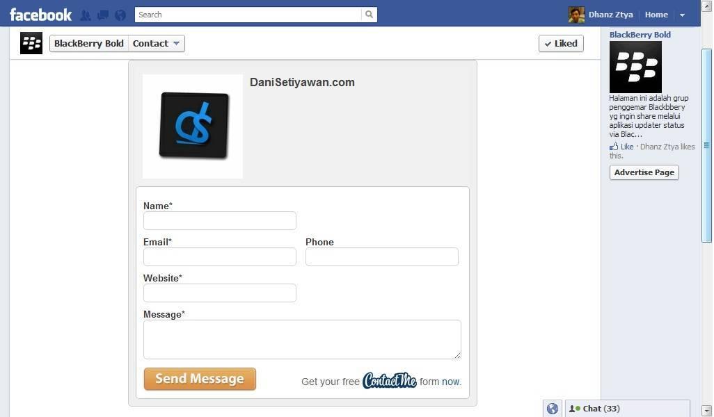 Cara Membuat Halaman Kontak di Facebook