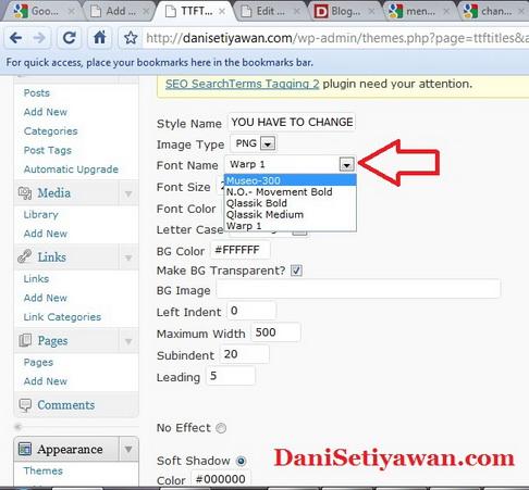 Cara Mengganti Jenis Huruf  Font Judul Post WordPress 3