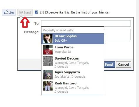 Tombol Like Send Facebook di Blog WordPress