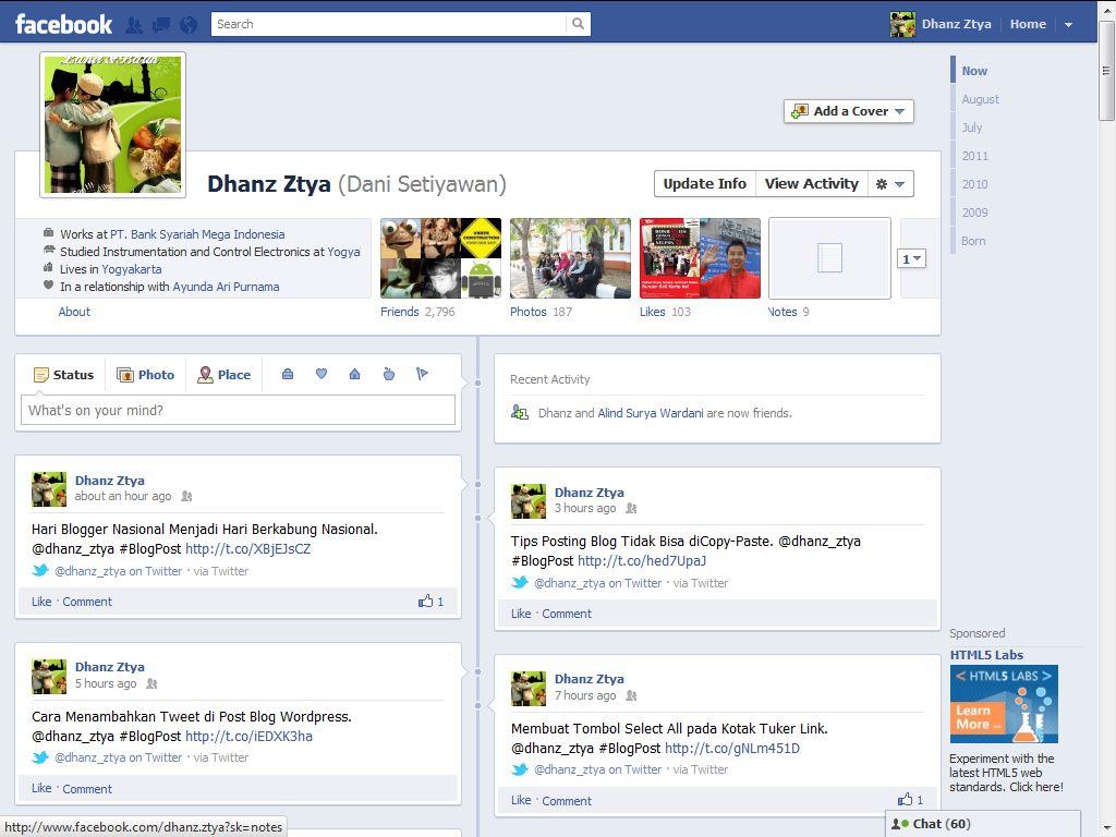 Facebook Timeline Tampilan Terbaru Facebook