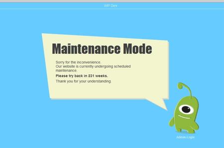 Membuat Blog Maintenance Mode