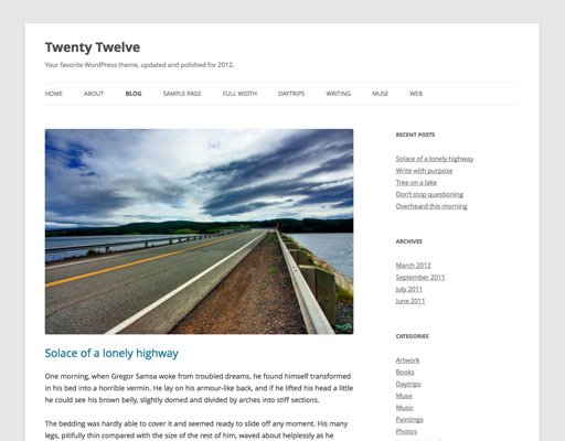 WordPress 3.5 dan Theme Twenty Twelve